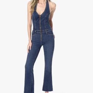 957484151ad Joe s Jeans halter flare denim jumpsuit